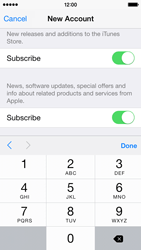 Apple iPhone 5s - iOS 8 - Applications - Create an account - Step 17