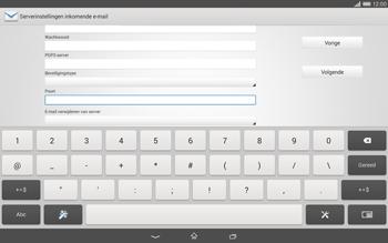Sony Xperia Tablet Z2 4G (SGP521) - E-mail - Handmatig instellen - Stap 11