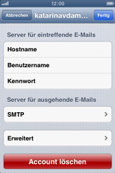 Apple iPhone 3GS - E-Mail - Manuelle Konfiguration - Schritt 14