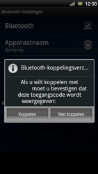Sony Ericsson ST18i Xperia Ray - Bluetooth - headset, carkit verbinding - Stap 8