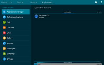 Samsung T805 Galaxy Tab S - Voicemail - Manual configuration - Step 5
