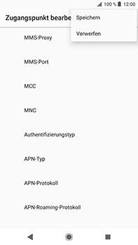 Sony Xperia XZ2 Premium - MMS - Manuelle Konfiguration - Schritt 16