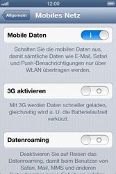 Apple iPhone 4 S - Ausland - Im Ausland surfen – Datenroaming - 0 / 0
