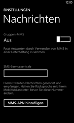 HTC Windows Phone 8S - SMS - Manuelle Konfiguration - Schritt 5