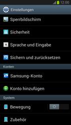 Samsung Galaxy S III LTE - Gerät - Zurücksetzen auf die Werkseinstellungen - Schritt 4