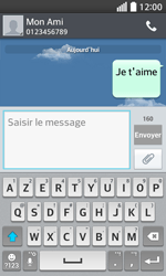 LG F70 - Contact, Appels, SMS/MMS - Envoyer un SMS - Étape 10