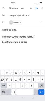 Oppo Reno 4Z - E-mails - Envoyer un e-mail - Étape 9
