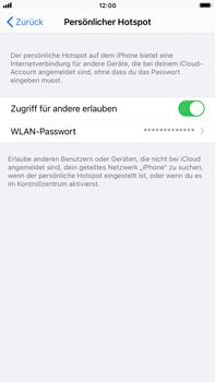 Apple iPhone 8 Plus - iOS 14 - WiFi - So aktivieren Sie einen WLAN-Hotspot - Schritt 8