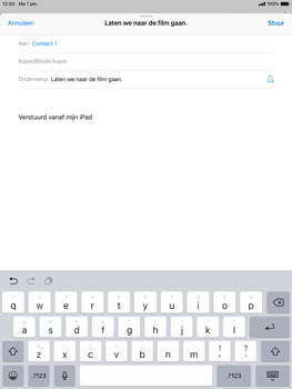 Apple iPad Air iOS 12 - E-mail - e-mail versturen - Stap 6