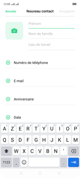 Oppo A9 2020 - Contact, Appels, SMS/MMS - Ajouter un contact - Étape 5