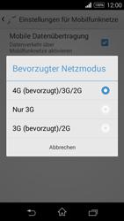 Sony Xperia E3 - Netzwerk - Netzwerkeinstellungen ändern - 7 / 8