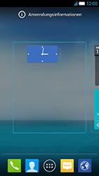 Alcatel One Touch Idol S - Startanleitung - Installieren von Widgets und Apps auf der Startseite - Schritt 6