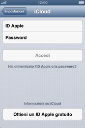 Apple iPhone 4S - Applicazioni - Configurazione del servizio Apple iCloud - Fase 4