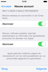 Apple iPhone 4S (iOS 8) - apps - account instellen - stap 19