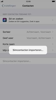 Apple iPhone 6 Plus - iOS 11 - Contacten en data - Contacten kopiëren van SIM naar toestel - Stap 5