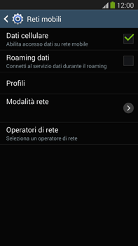 Samsung Galaxy Note III LTE - Internet e roaming dati - Disattivazione del roaming dati - Fase 7
