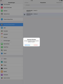 Apple iPad Pro 12.9 inch - iOS 11 - Anmeldedaten hinzufügen/entfernen - 11 / 12