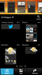 HTC One X Plus - Getting started - Installing widgets and applications on your start screen - Step 4