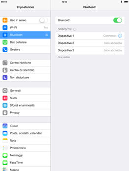 Apple iPad mini iOS 7 - Bluetooth - Collegamento dei dispositivi - Fase 9