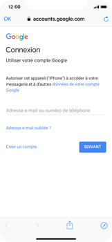Apple iPhone X - iOS 12 - E-mail - 032a. Email wizard - Gmail - Étape 6