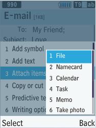 Samsung C3350 Xcover 2 - E-mail - Sending emails - Step 9