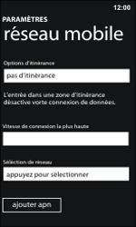 Nokia Lumia 800 / Lumia 900 - Réseau - Sélection manuelle du réseau - Étape 8