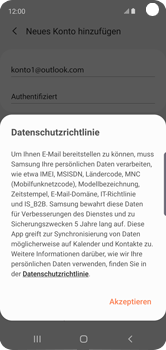 Samsung Galaxy S10e - E-Mail - Konto einrichten (outlook) - 13 / 16