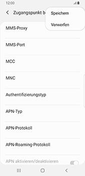 Samsung Galaxy S9 - Internet - Manuelle Konfiguration - 17 / 39