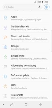Samsung Galaxy S9 - Gerät - Zurücksetzen auf die Werkseinstellungen - Schritt 4