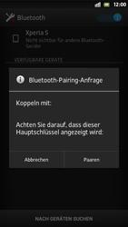Sony Xperia S - Bluetooth - Verbinden von Geräten - Schritt 7
