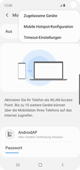 Samsung Galaxy S10e - WiFi - So aktivieren Sie einen WLAN-Hotspot - Schritt 9