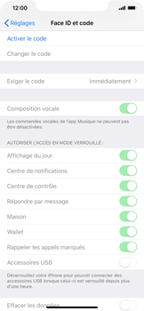 Apple iPhone XS Max - Sécurité - activéz le code PIN de l'appareil - Étape 4