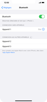 Apple iPhone XR - iOS 13 - Bluetooth - connexion Bluetooth - Étape 8