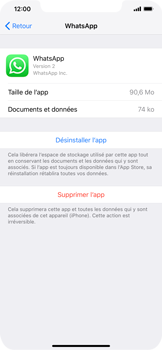 Apple iPhone XS Max - Applications - Supprimer une application - Étape 6