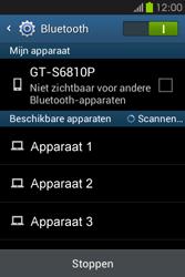 Samsung S6810P Galaxy Fame - bluetooth - aanzetten - stap 6