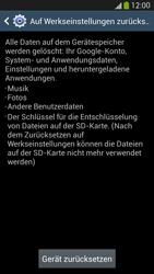 Samsung Galaxy S 4 Active - Gerät - Zurücksetzen auf die Werkseinstellungen - Schritt 7