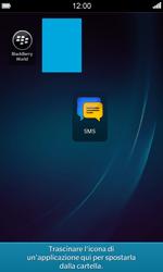 BlackBerry Z10 - Operazioni iniziali - Personalizzazione della schermata iniziale - Fase 9