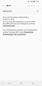 Samsung Galaxy S8 - Android Oreo - Wi-Fi - Accéder au réseau Wi-Fi - Étape 6