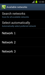 Samsung Galaxy S II - Network - Manual network selection - Step 9