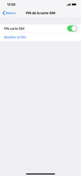 Apple iPhone XR - Sécuriser votre mobile - Personnaliser le code PIN de votre carte SIM - Étape 12
