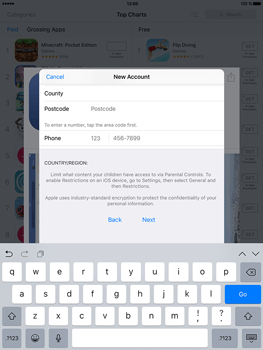 Apple iPad Air 2 iOS 10 - Applications - Create an account - Step 20