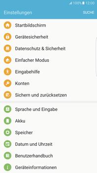 Samsung Galaxy S6 edge+ - Fehlerbehebung - Handy zurücksetzen - 2 / 2