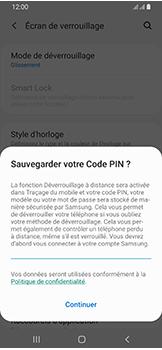 Samsung Galaxy A40 - Sécuriser votre mobile - Activer le code de verrouillage - Étape 12