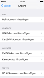 Apple iPhone 5s iOS 9 - E-Mail - Manuelle Konfiguration - Schritt 6
