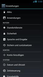 Alcatel One Touch Idol - Gerät - Zurücksetzen auf die Werkseinstellungen - Schritt 5