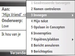 HTC S521 Snap - E-mail - hoe te versturen - Stap 10