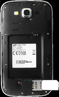 Samsung I9060 Galaxy Grand Neo - SIM-Karte - Einlegen - Schritt 6