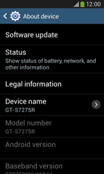 Samsung Galaxy Ace III - Software - Installing software updates - Step 7