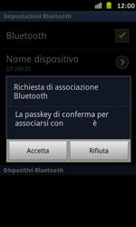 Samsung Galaxy S Advance - Bluetooth - Collegamento dei dispositivi - Fase 8
