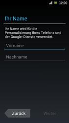 Sony Ericsson Xperia Ray mit OS 4 ICS - Apps - Konto anlegen und einrichten - 5 / 18